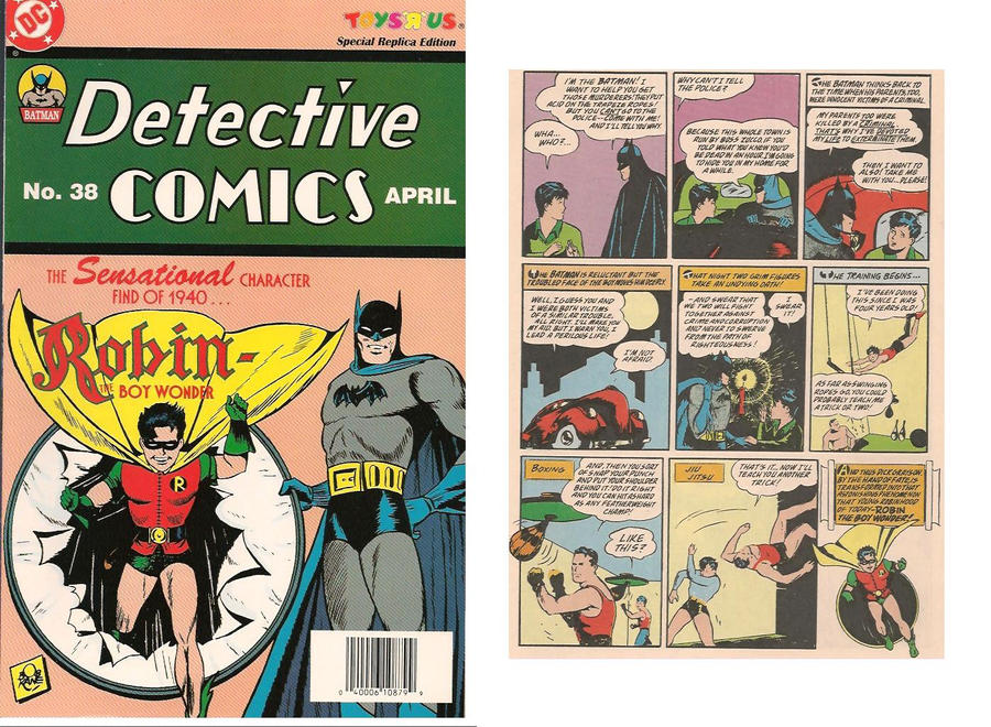 Reprint of 1940 Detective Comics 38 with Robin by trivto