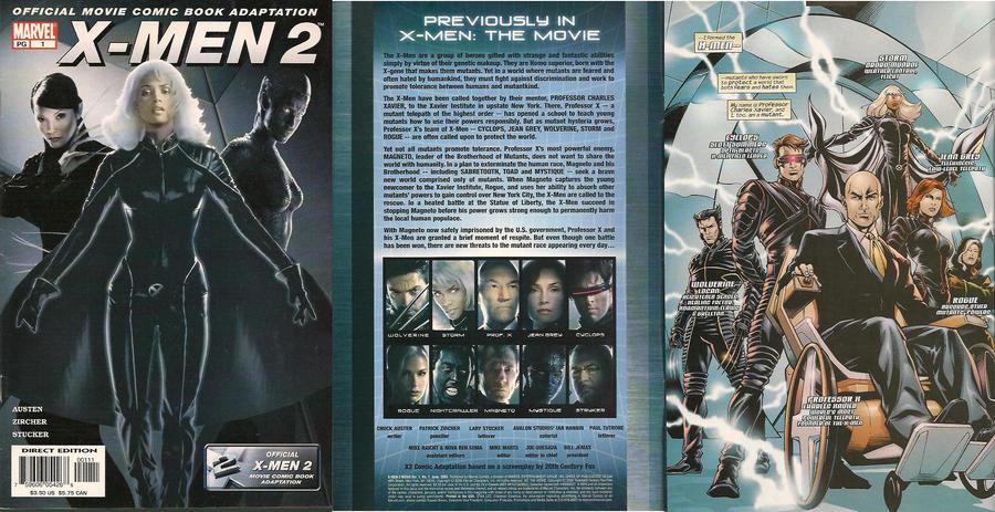 X Men 2 Comic 2003 Official X-Men 2 ...