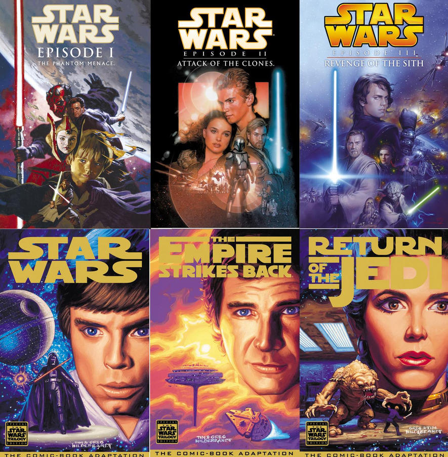 star wars saga covers from dark horse comicstrivto on