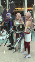 Caius, Lightning, and Serah Ferron from FF XII