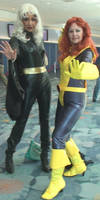 Storm and  Kitty Pryde or Shadowcat from X-Men