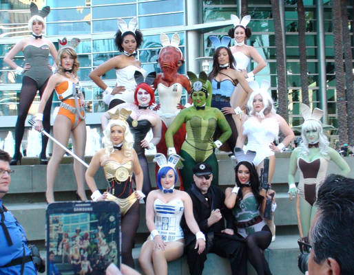 Playboy Bunnies at Star Wars Celebration 2015