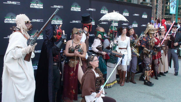 Steampunk characters at Star Wars Celebration 2015
