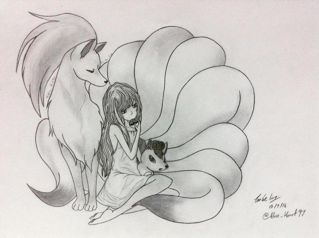 Vulpix  Ninetales by Cheshirix