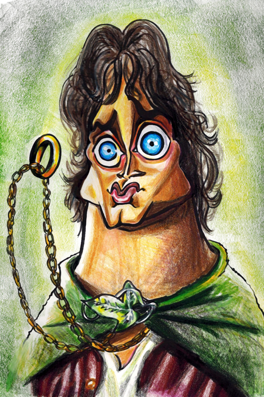 Frodo Caricature by ByunCaricature