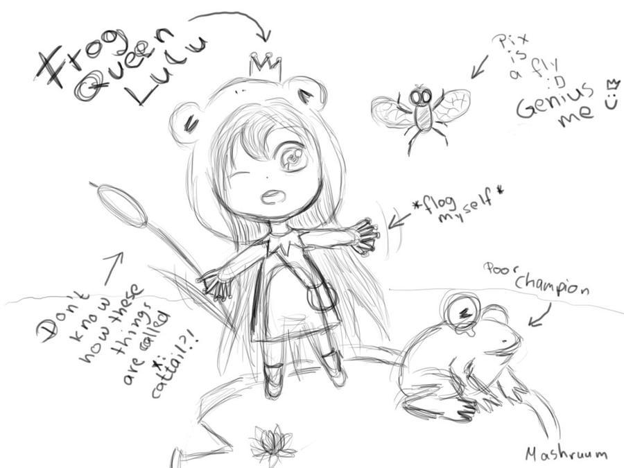 Lulu Doodle Skin Idea ~ League of Legends by 4SkinZ