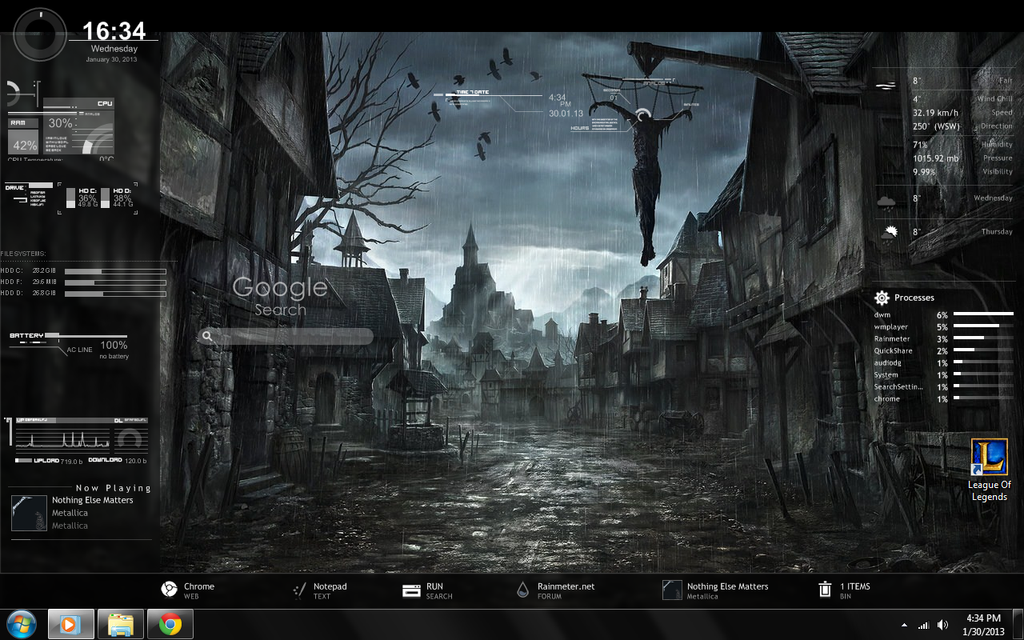 Rainmeter fade to black by lovervenom on deviantart for Bureau windows 7 rainmeter
