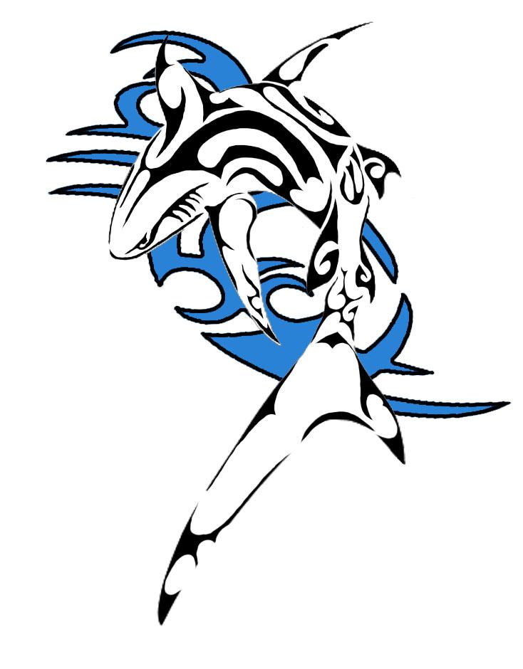 Pisces shark tattoos shark tattoo by m3k0