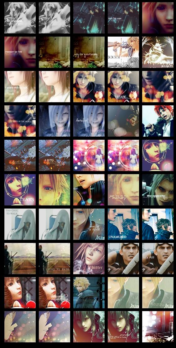 001 - 50 FF, KH + Misc Avatars by IWillNotANIKI