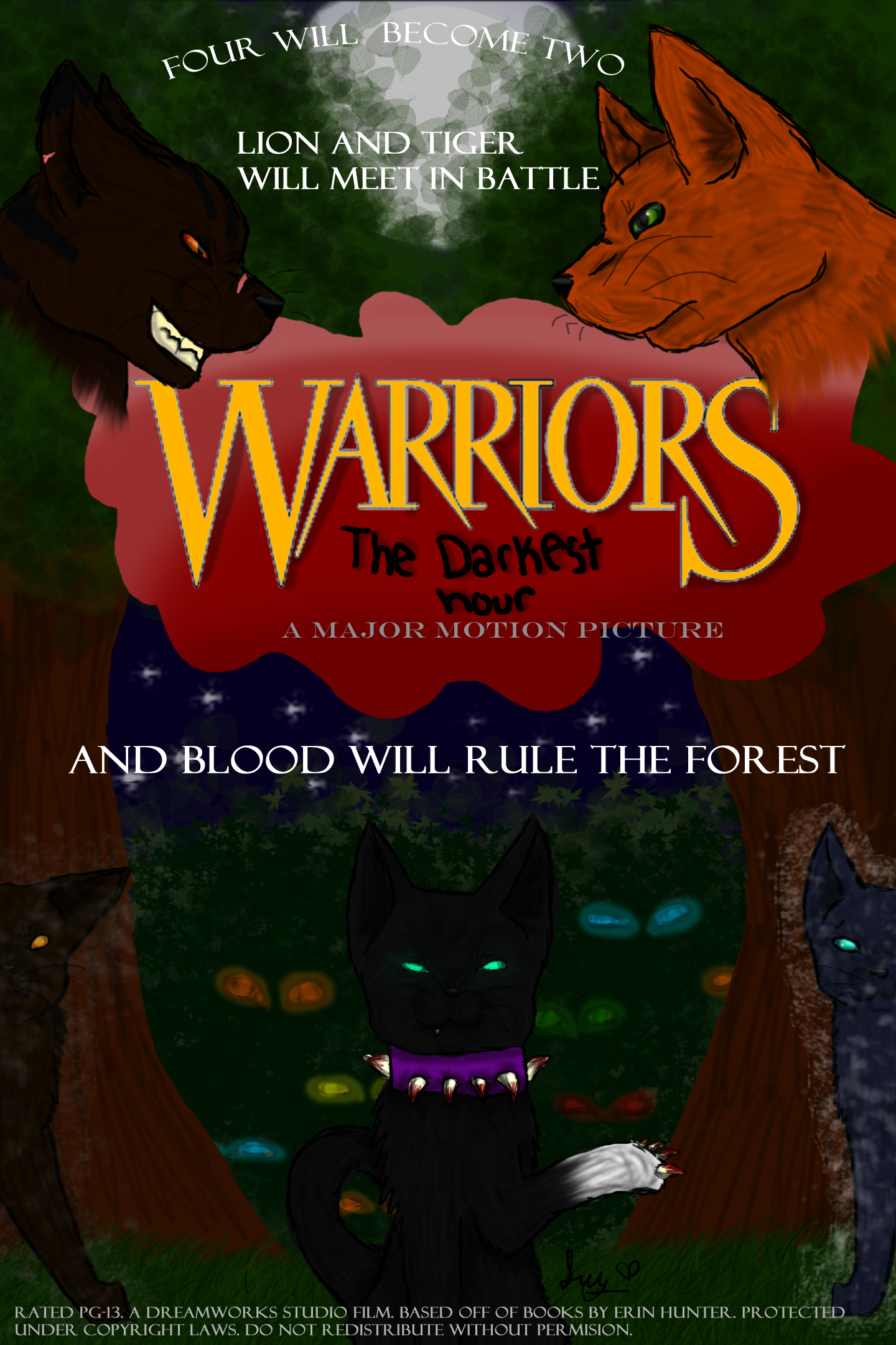 Warrior cats movie poster