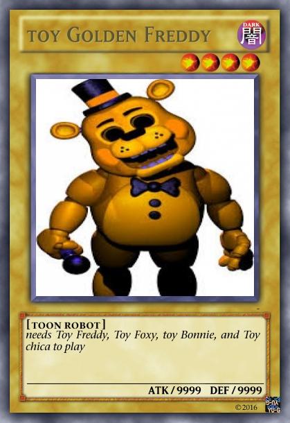 Gold Freddy Toys : Fnaf yu gi oh toy golden freddy by yalniffinlay on deviantart