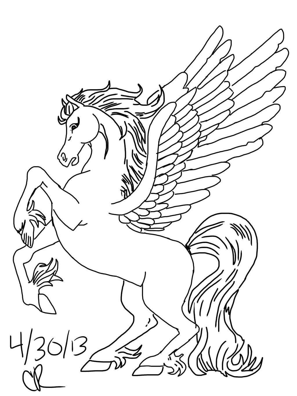 pegasus coloring pages pegasus by wolfiethealpha on deviantart