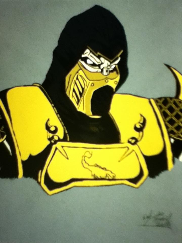 Scorpion (Mortal Kombat: Armageddon) Colored by Obi-Waton