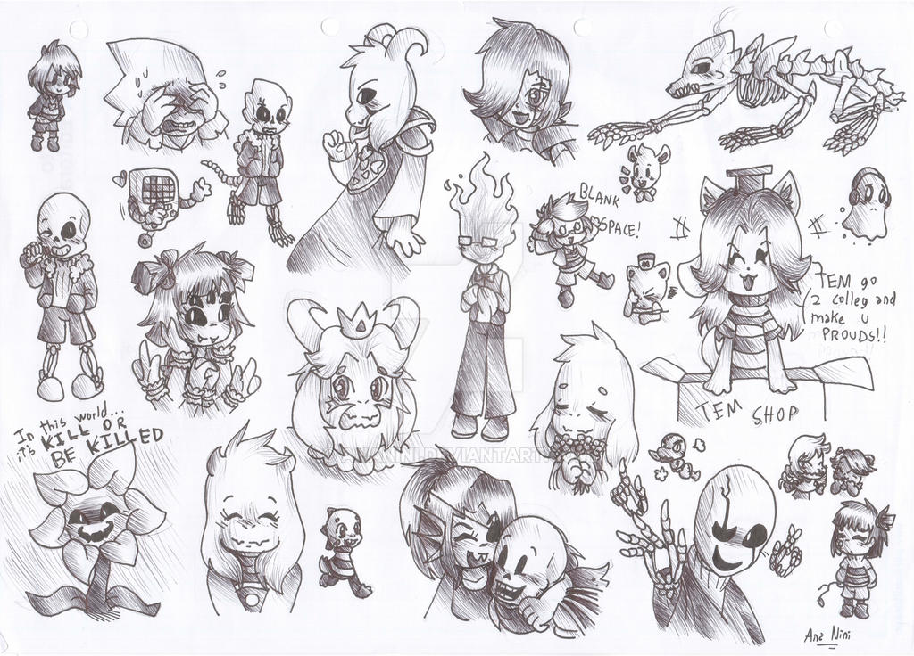 Undertale Character Doodles By AnaNini On DeviantArt