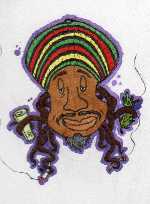 Legal Weed Rasta by chaosandcartoons
