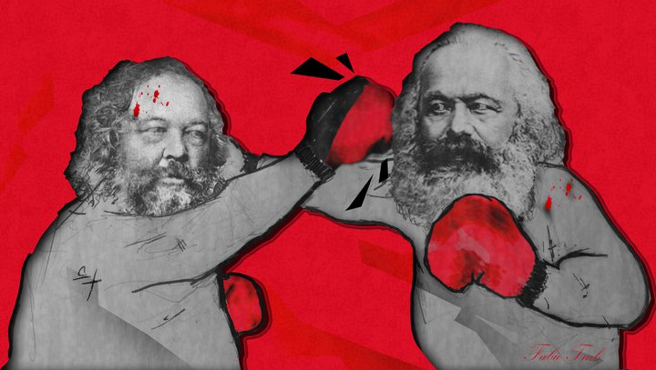 bakunin and marx from russia with love by fabiotmb