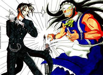 Black Butler VS Kamen no Maid Guy by Hanoko