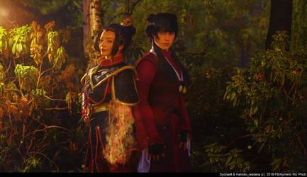 Fear the Fire Nation [Azula + Mai cosplay Avatar]
