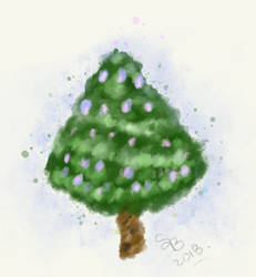 Watercolor Holidaytree
