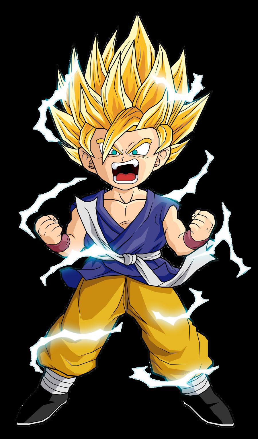 Dragon Ball GT  Kid Goku SSJ2  PNG by Markus029 on DeviantArt