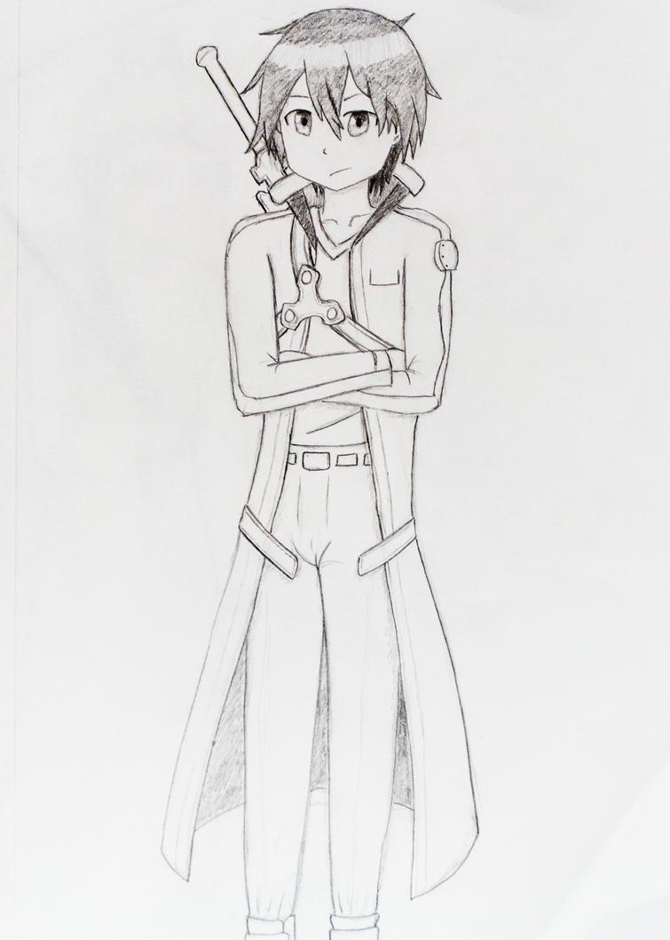 Kirito sketch sword art online by anths95 on deviantart for Sketch it online