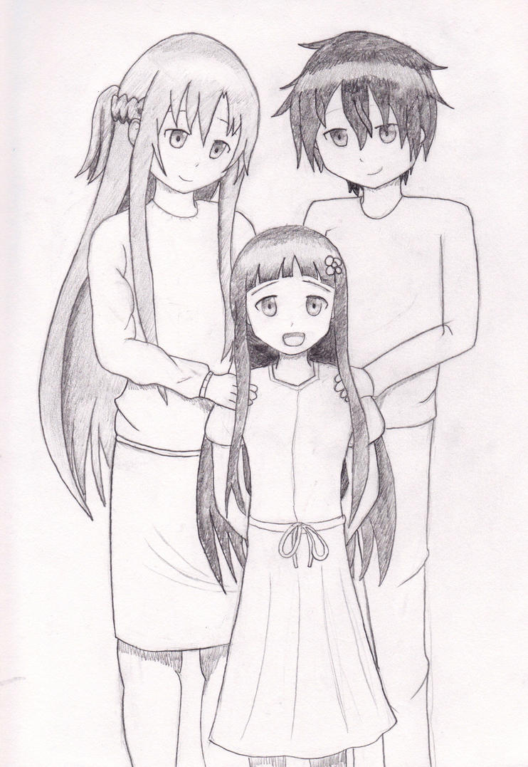 Happy Family Sketch Sword Art Online By Anths95 On