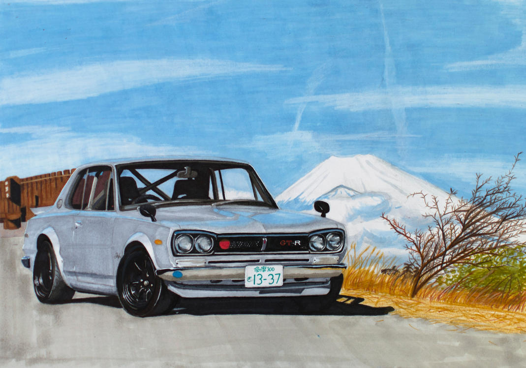 1971 Nissan Skyline 2000 GT-R Hakosuka KPGC10 by Anths95