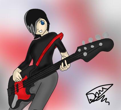 Angel tocando la Guitarra by mikalanix