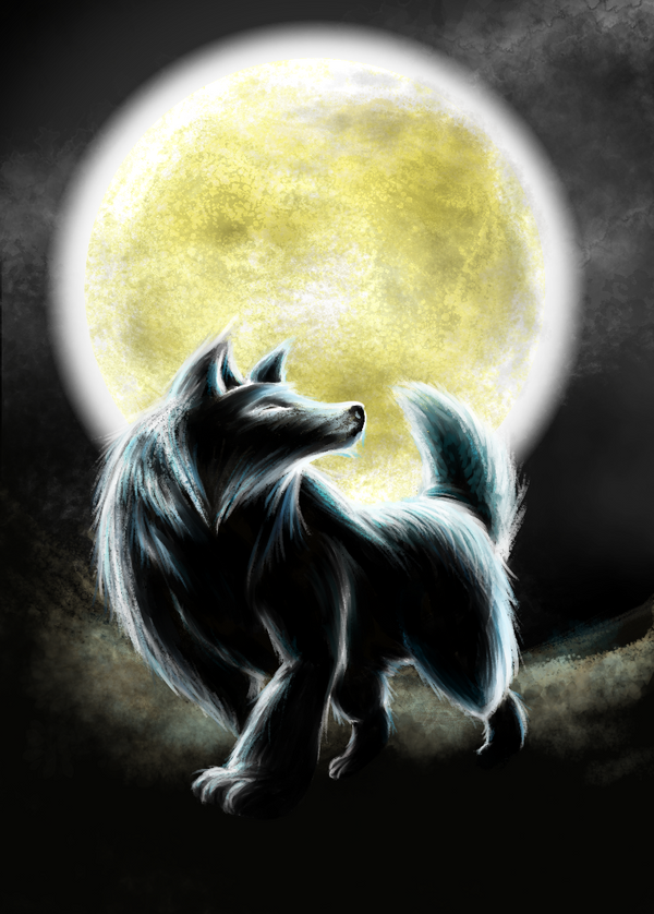 One Wolf Moon by no-wing