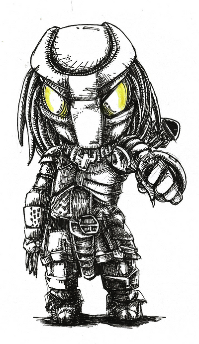 Chibi Predator by no-wing
