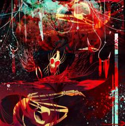 Drawlloween 2016 - Demonic by raxgond