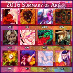 2016 Art Summary by raxgond