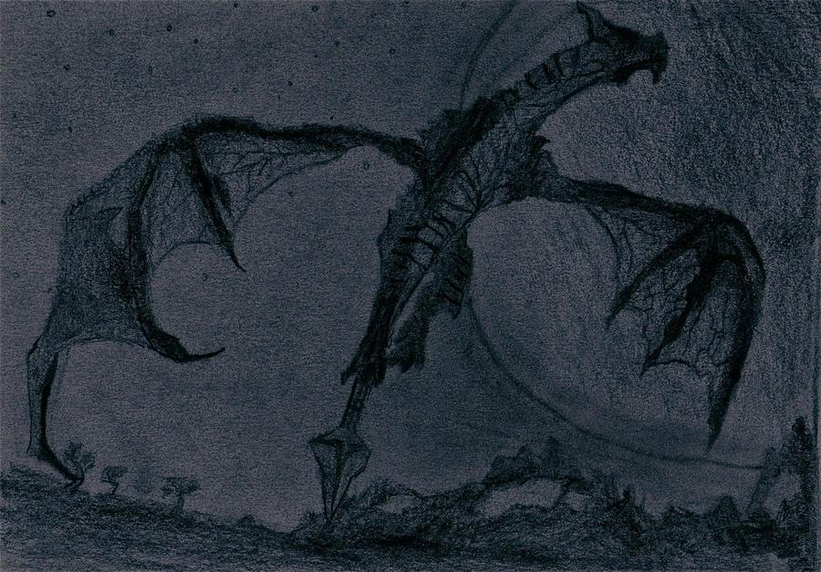 Dark Dragon in the Moonlight by Cheezman9497