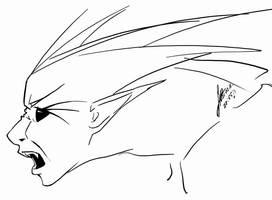 true form ' Yoru's head' by H-I-S-O-K-A