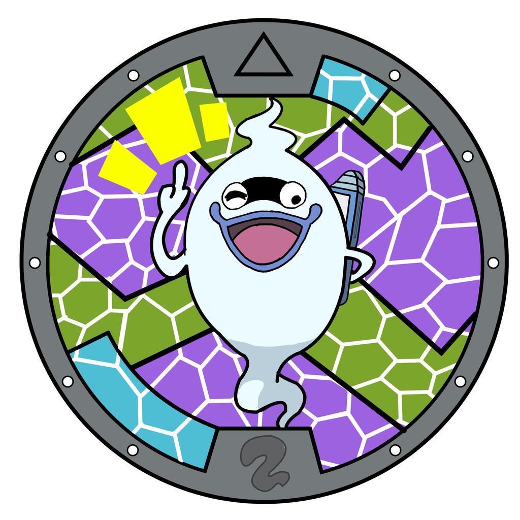 Yo kai watch whisper medal by artgazer12 on deviantart for Decoration yo kai watch