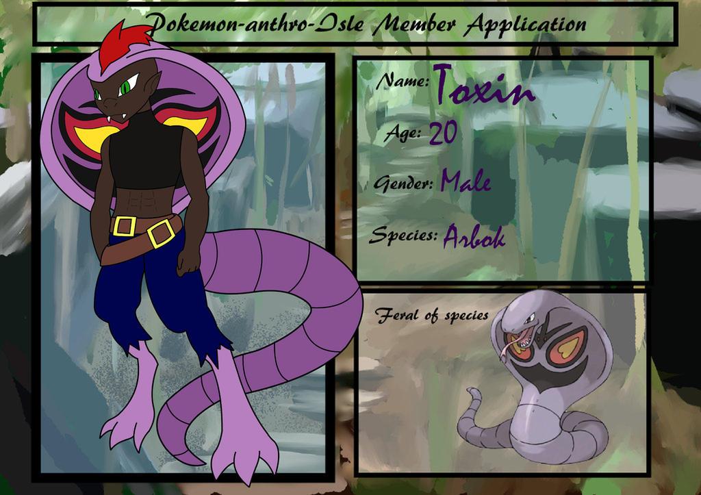 Pokemon Anthro Isle App: Toxin by ARTgazer12