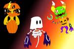 Halloween Yokai Adopts (OPEN 2/3) by ARTgazer12