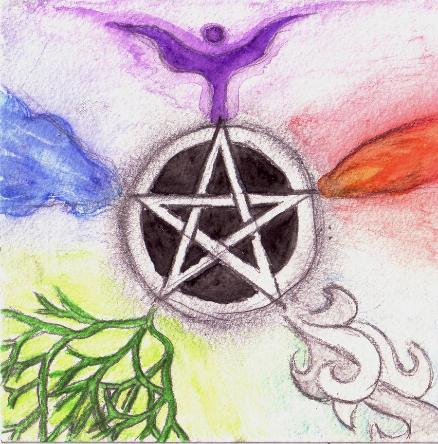 Five Elements Art : The pentagram of elements by rumpleteazer on deviantart