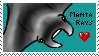 Stamp: I Heart Manta Rays by Peagreen