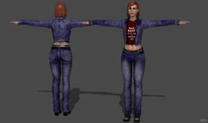ME3 Shepard Jeans Suit