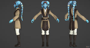 Kinect Star Wars: Twi'lek Padawan Model by g1pno