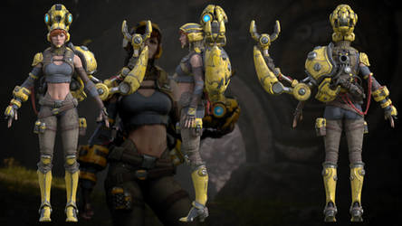 Paragon: Gadget 3D model for XNALara and Blender by g1pno