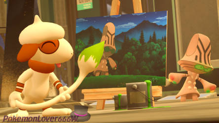 [SFM] Painting with Smeargle by PokemonLover666W