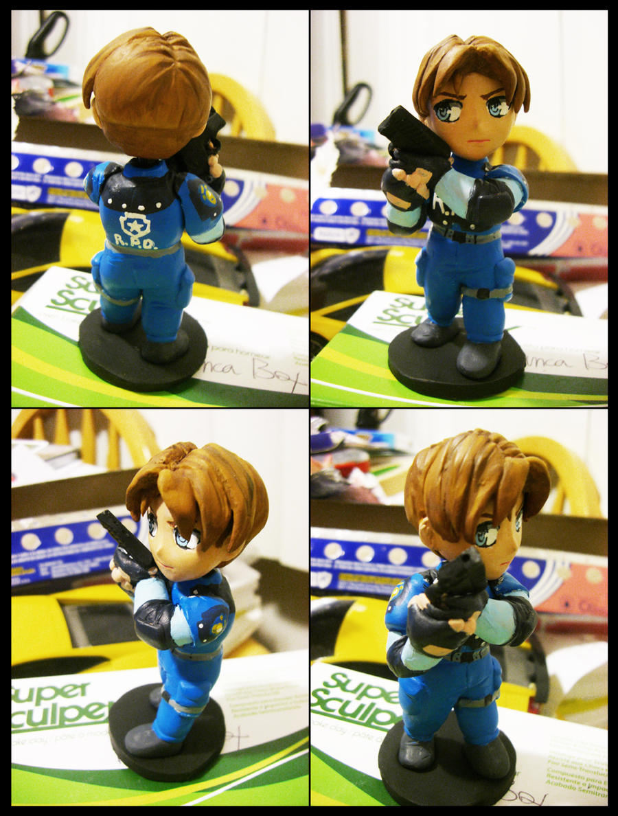 Leon S. Kennedy SD Figure by PuddingPlushiePalace