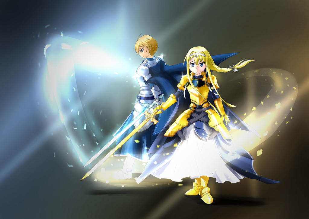 Alicization twin knights sword art online by twilitz - Sword art online alicization wallpaper ...