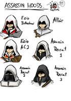 Assassin Hoods by BluAzure