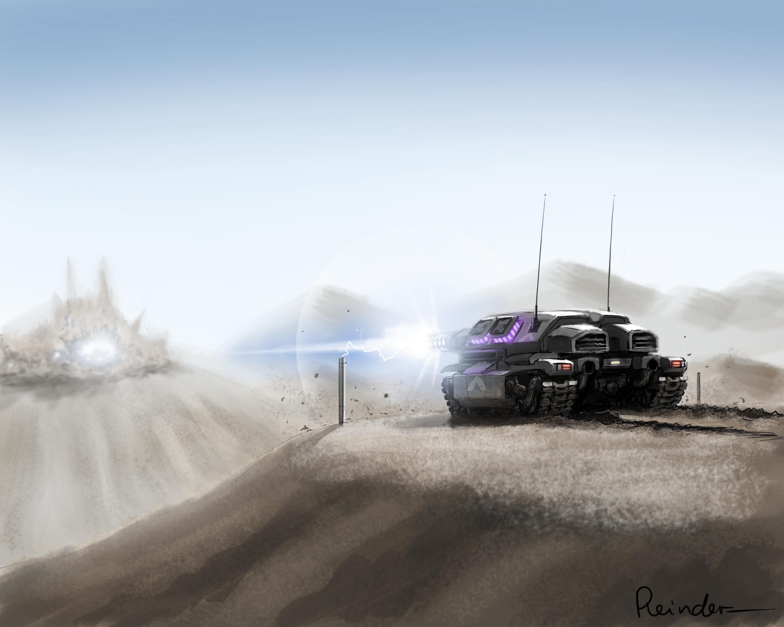 Railgun Artillery by Reinder : ImaginaryFutureWar