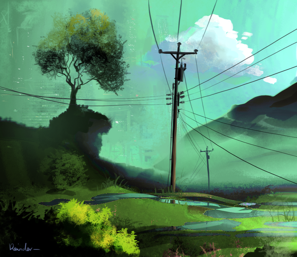 Powerlines by Reinder88