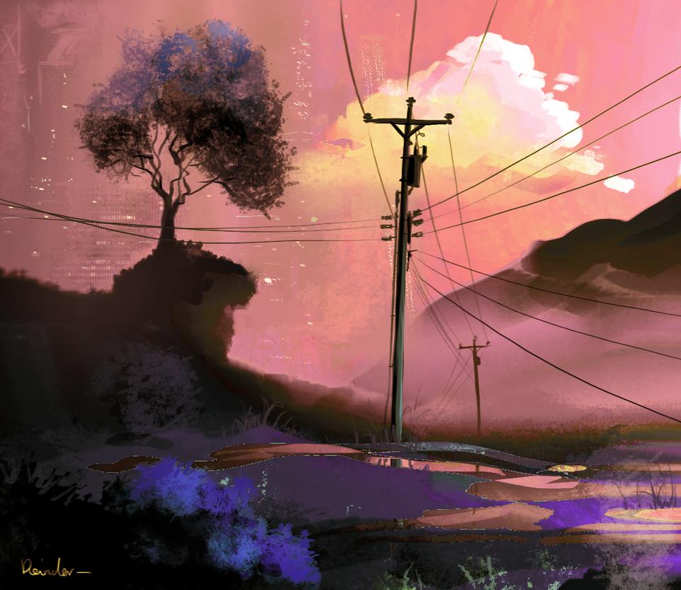 Powerlines alt by Reinder88