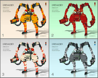 Robot Grenadier by handfighter